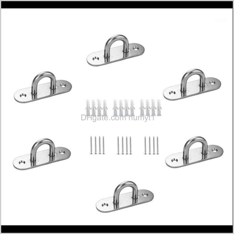Acessórios fixos de aço inoxidável para pendurar hammocks patrocinam gancho de balanço1 d8ihr rbcks