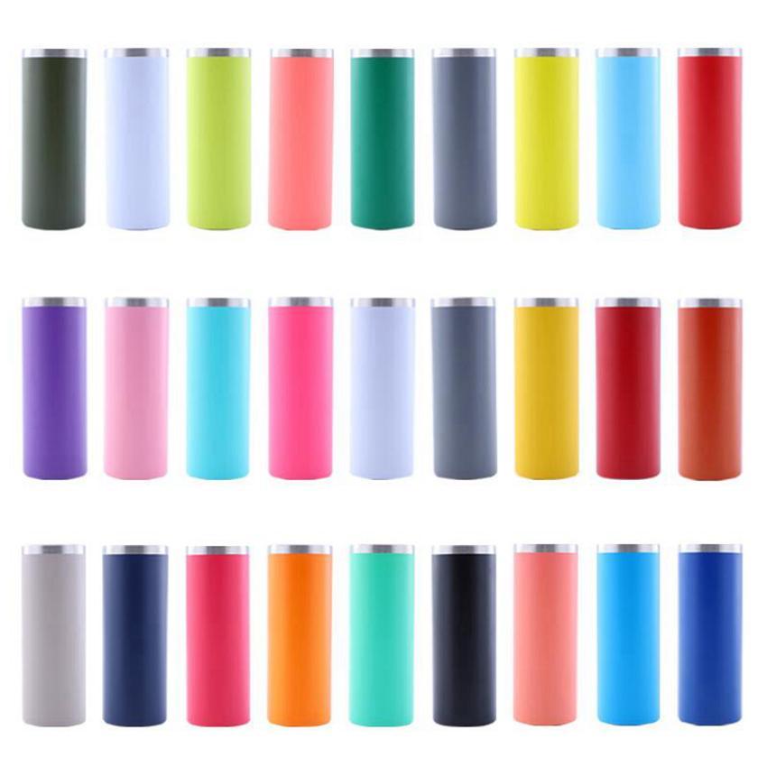 20 أوقية زجاجة المياه نحيل بهلوان الفولاذ المقاوم للصدأ فراغ معزول سليم كأس البيرة القهوة القدح نظارات مع غطاء CYZ3211