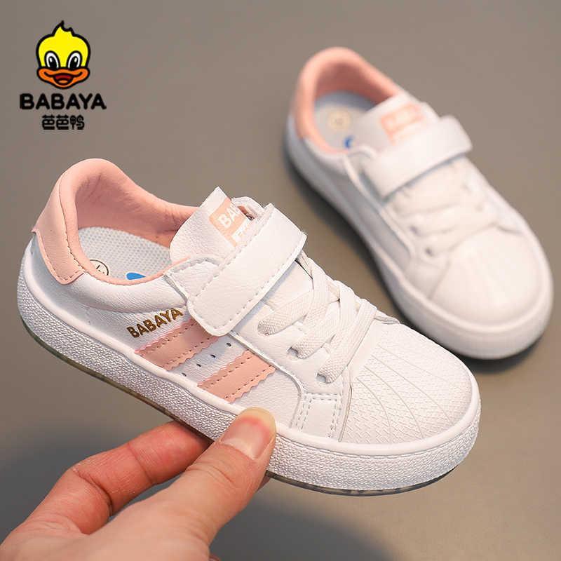 바바야 어린이 신발 소녀 화이트 소년 캐주얼 큰 아이 운동화 통기성 봄 2021 새로운 패션 스포츠 C0602