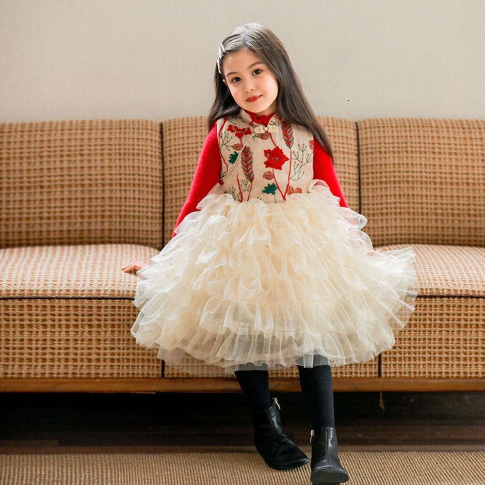 Девочки платья физические стрельба зима юбка детская средняя и маленькая шить свитер DRS