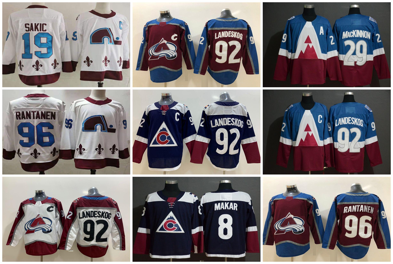 2021 Colorado Avalanche Jersey Hockey Men Nathan Mackinnon Jersey Gabriel Landeskog Philipp Grubauer Mikko Rantanen cale makar cucito