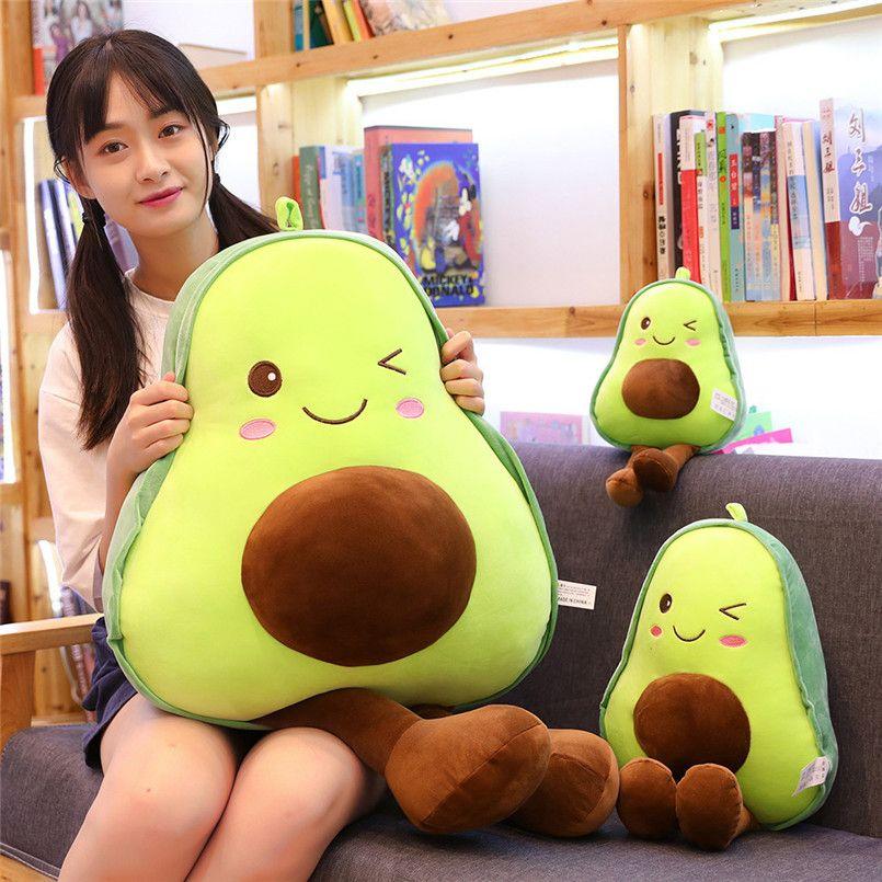 30-85 cm avocado knuffels schattig zacht kussen kussen kawaii fruit gevulde pop voor kinderen gooien verjaardagscadeau DHL FY7732
