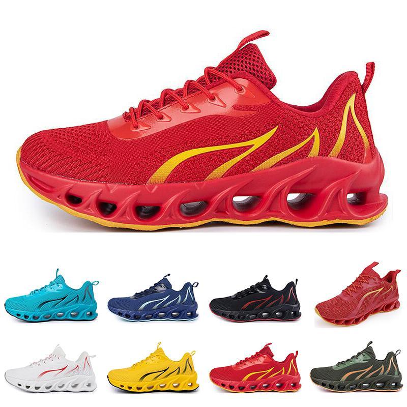 Zapatos de correr no marca Hombres Moda Entrenadores Blanco Negro Amarillo Rojo Azul Bled Bred Sneakers Sports Sports # 88