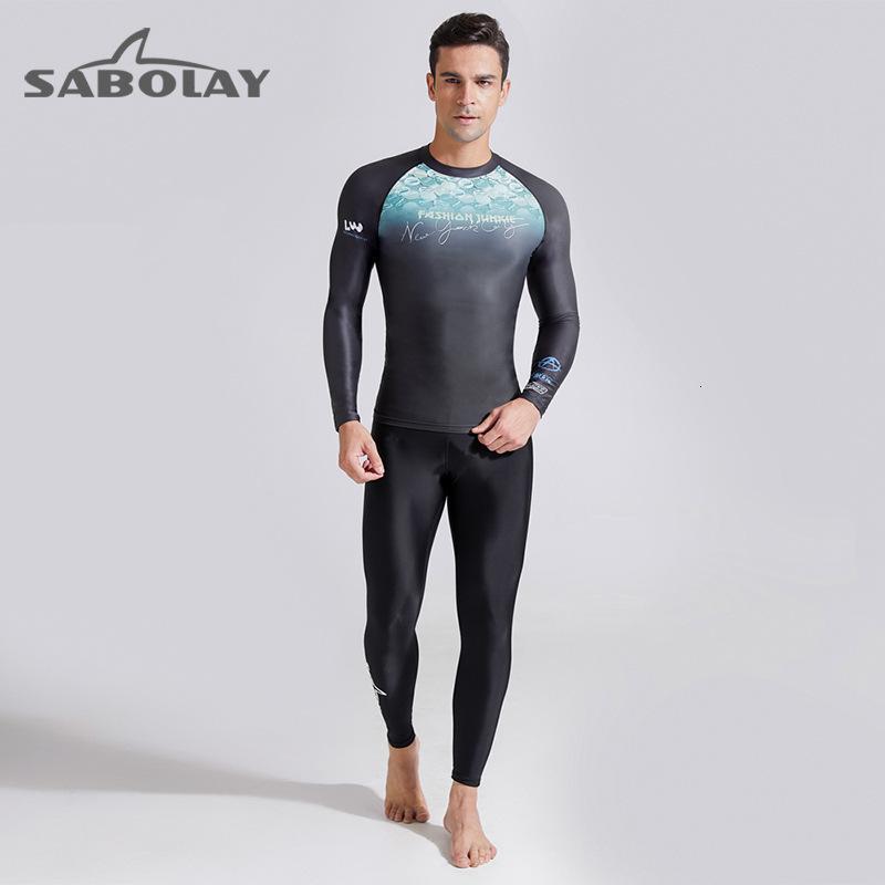 Swimwear sunscreen long sleeve men's diving surfsuit swimming outdoor water sports waterproof mother suit