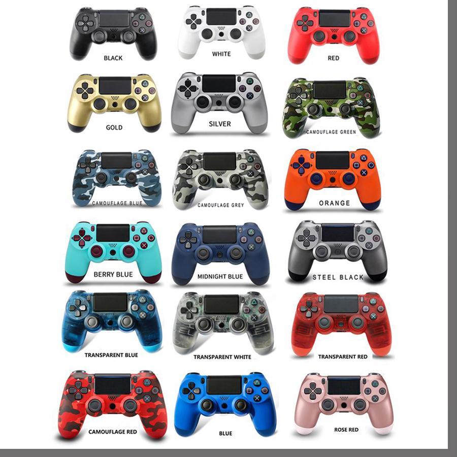 PS4 진동을위한 블루투스 무선 컨트롤러 Gamepad 게임 핸들 컨트롤러 소매 상자가있는 로고가없는 스테이션