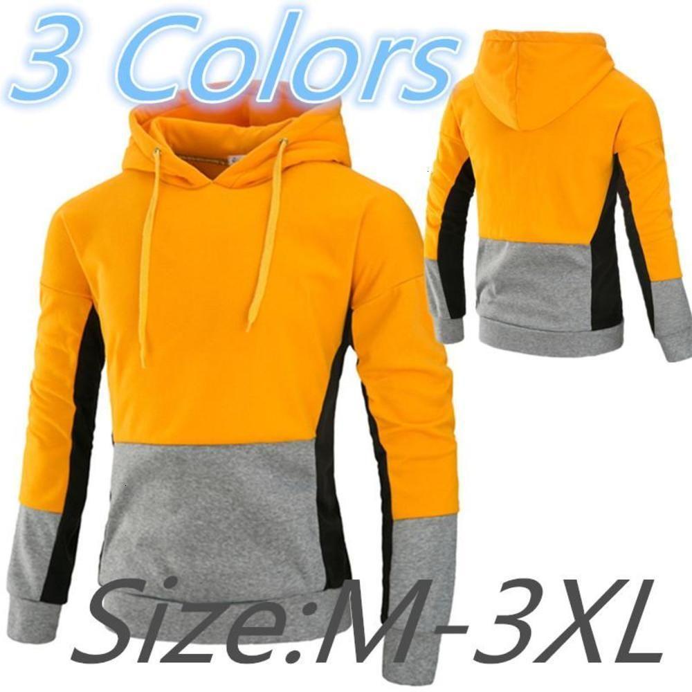 2021 Jugendtrend Herren Pullover Sweatshirt Mode Spleißen Langhülse Mit Kapuze Sportswear Outdoor Running Fitness Casual Tops