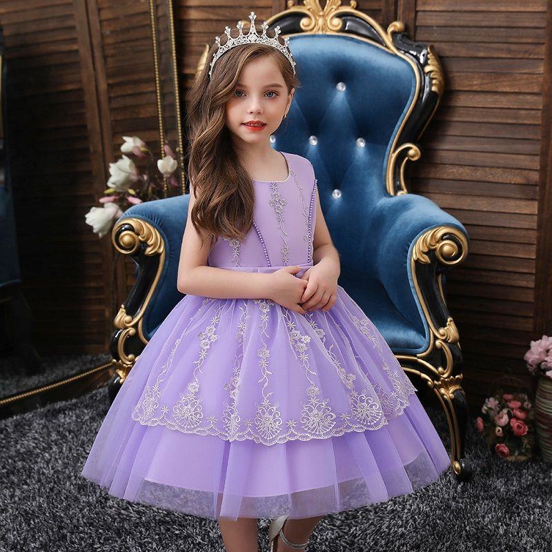 طفل اللباس مع تنورة تول الأرجواني الاطفال فساتين للفتيات الصغيرات حجم 2T إلى 10T