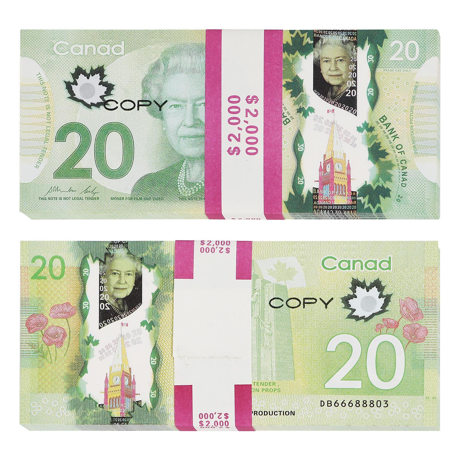 Prop Canadian Game деньги доллар CAD банкноты бумаги подгонять поддельные счета фильмов реквизит