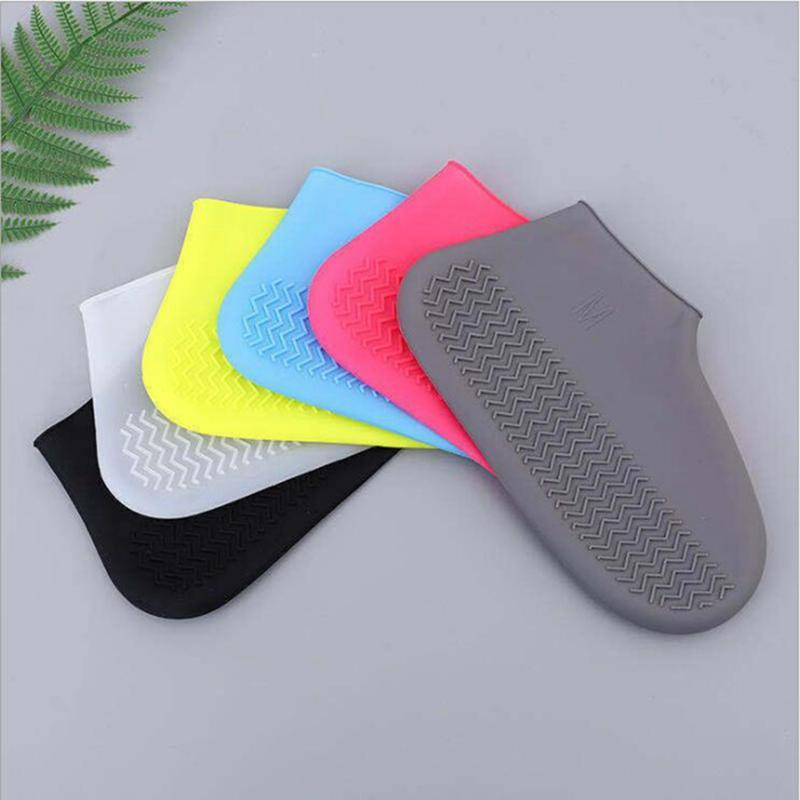 Waterproof Shoe Cover Silicone Material Unisex Shoes Protectors Rain Boots for Indoor Outdoor Rainy Days Reusable JJA237