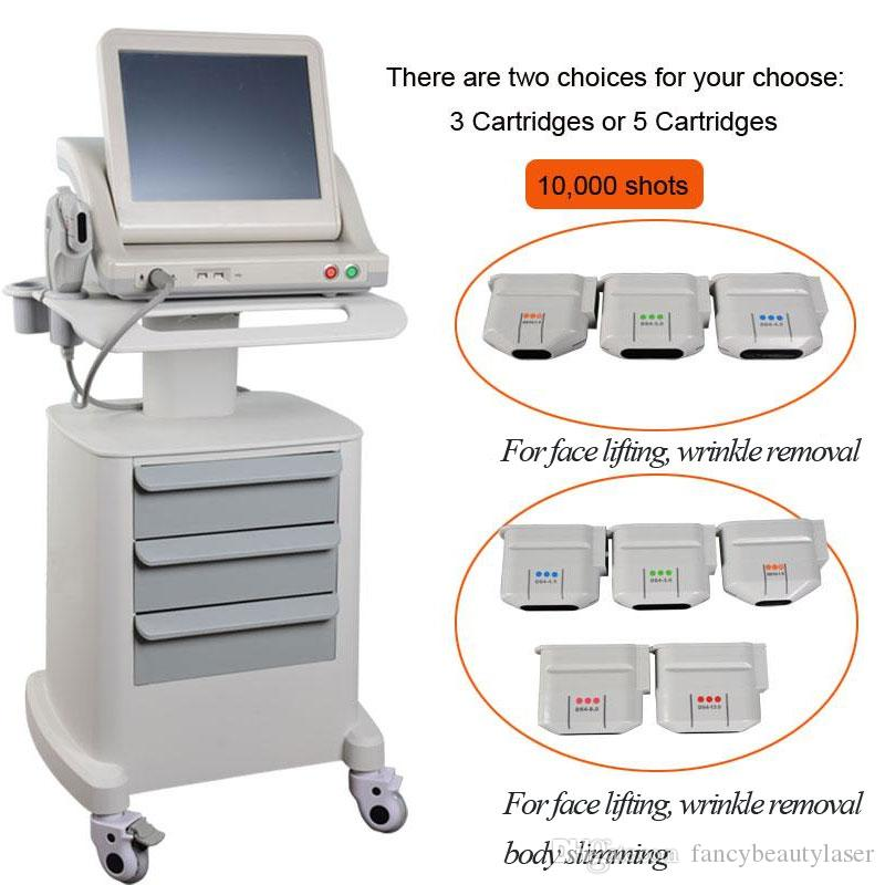CE proved Anti-aging hifu focused ultrasonic machine for face lifting body slimming wrinkle removal with 3 or 5 cartridges