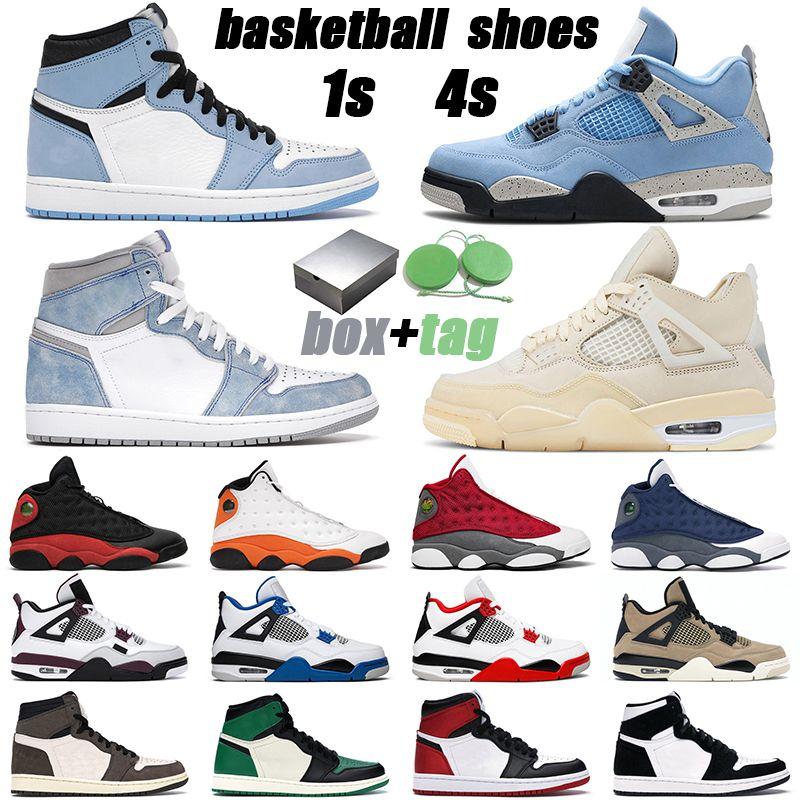 Jumpman 1 الرجال النساء 1s 3s 4s 5s 13s مزيج أحذية هايبر رويال جامعة الأزرق سبج unc رجل في الهواء الطلق أحذية رياضية رياضية