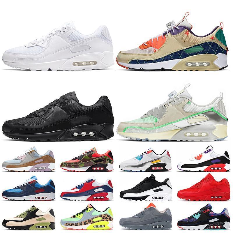 nike air max 90 shoes new airmax 90 cuscino d'aria 90 Scarpe da corsa Economici Uomo Donna Nero Bianco Beige Scarpe da ginnastica Air90 Scarpe sportive classiche di design anni '90