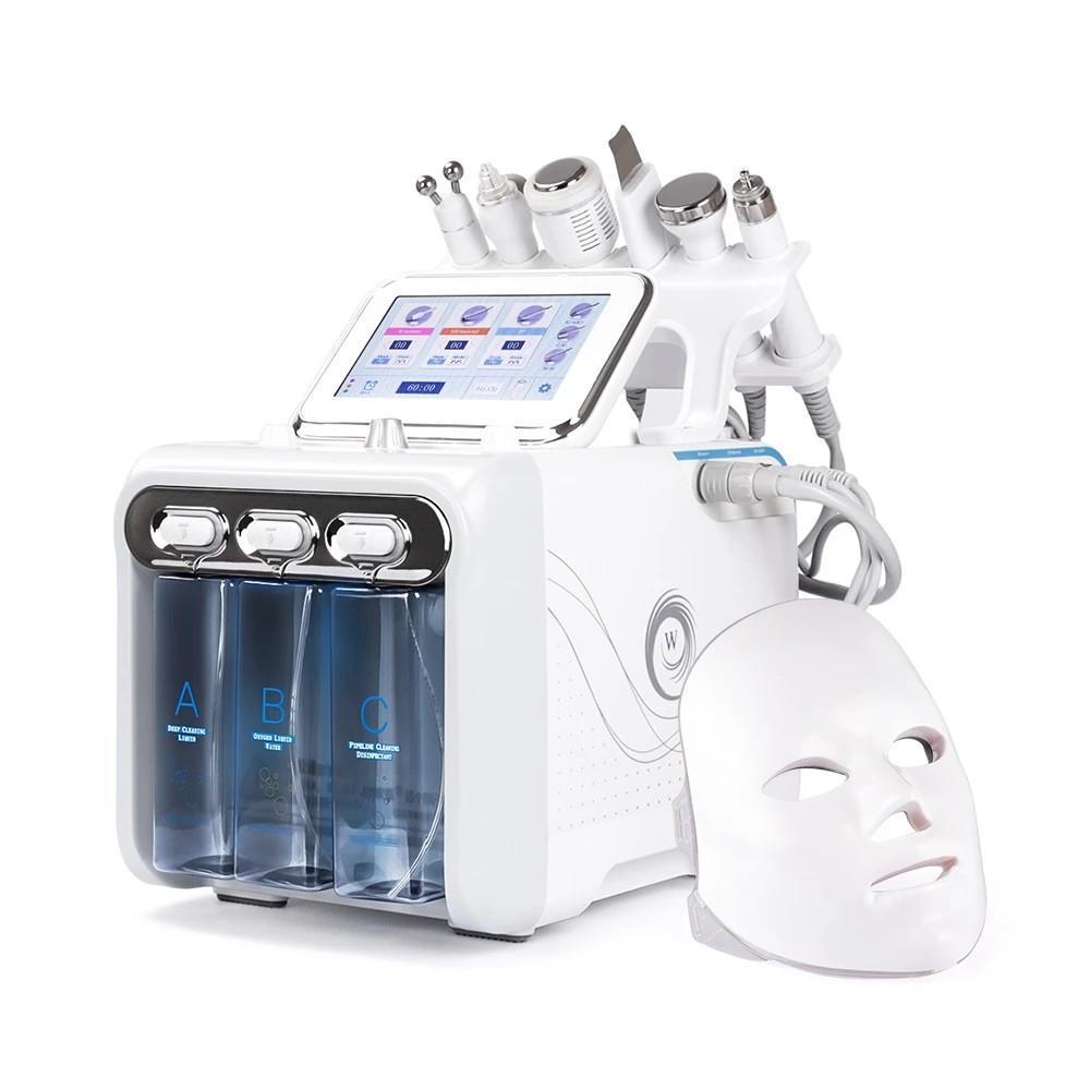 7 in 1 Hydra Facial Machine led mask RF Skin Rejuvenaiton Diamond Microdermabrasion Hydro Dermabrasion Bio-lifting Wrinkle Removal Device
