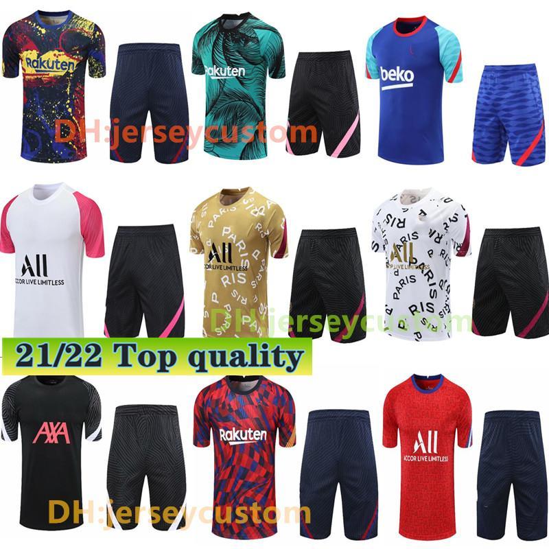Chandal Futbol Homens Sobrevetimento Pé Verratti Icardi Mbappe Futebol Jerseys 2021 2022 Futebol Tracksuit Mens Football Jersey Training Jogging