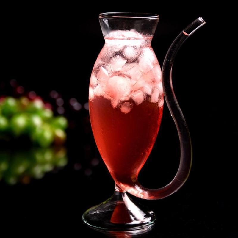 النبيذ الويسكي الزجاج مقاومة للحرارة مص عصير الحليب الشرب أنبوب القش كأس القش جودة عالية أكواب نظارات