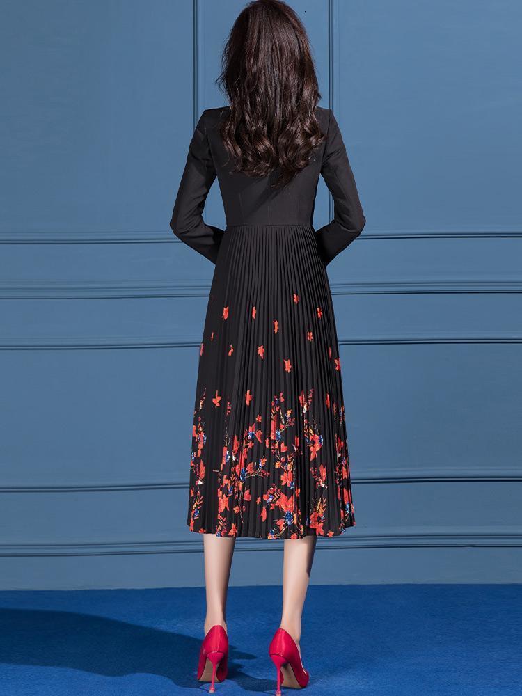봄 캐주얼 긴 트렌치 코트 여성 꽃 무늬 프린트 윈드 브레이커 여성용 코트