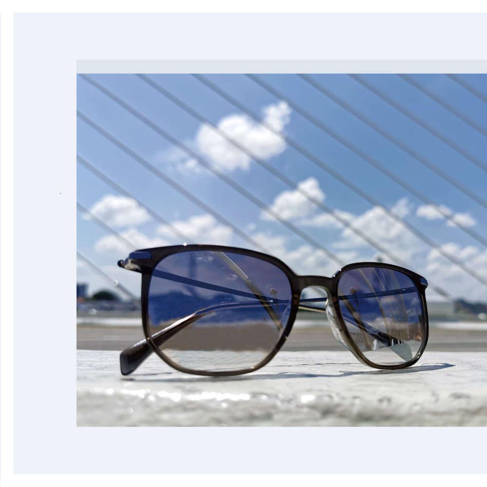 2021 Trendy Metall- und Acetat-Retro-Weinlese-polarisiertes Sonnenglas-Sonnenbrillen für Frauen und Männer