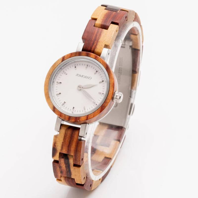 Armbanduhren Frauen Uhren Damen Trendy Sandelwood Quarz Handgelenk Relogio Armband Holzuhr Armbanduhr Reloj