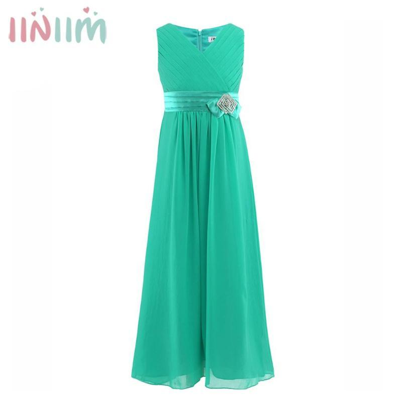 소녀의 드레스 Iiniinim 아이들을위한 아이를위한 우아한 공주 드레스 여름 웨딩 vestidos 생일 파티 십대 댄스 공식