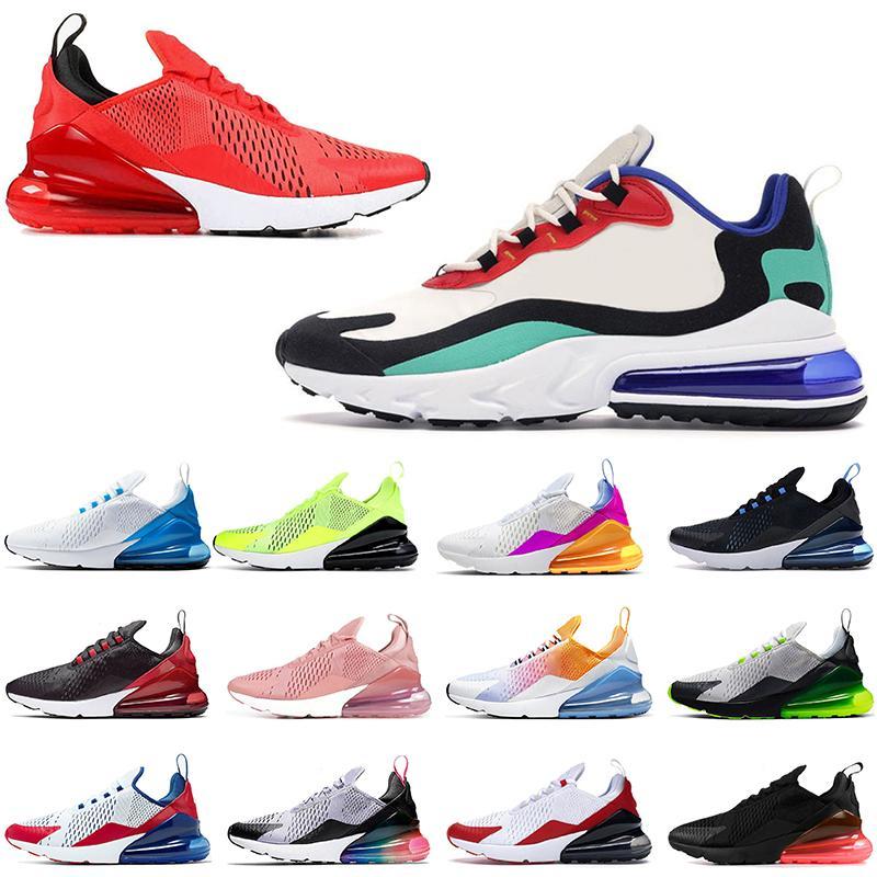 Nike Air Max airmax 270 Erkek Bayan Tüm Siyah Beyaz Koşu Ayakkabıları RECECT Dünya Çapında Kabarcık Paketi Supernova Gül Pembe Hip Hop Spor Sneakers Atletik Eğitmenler