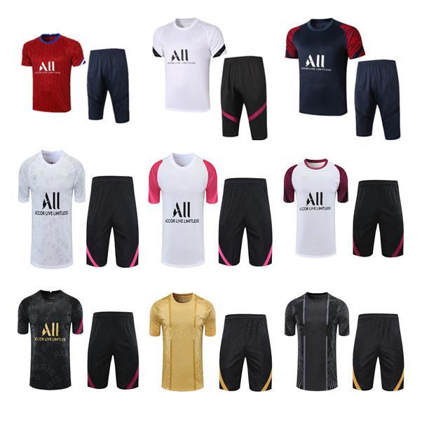 2021 قميص بولو لكرة القدم مجموعات Survetement Paris Mbappe Football Jackets Air Jordam التدريب البدلة