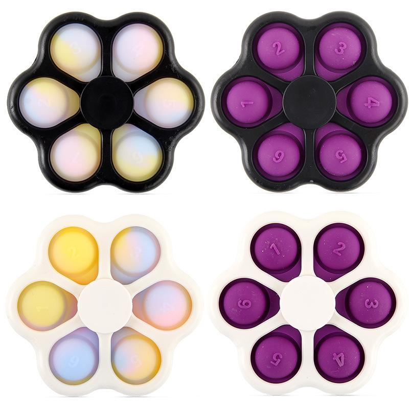 Decompression Toy Fidget Spinner Push Pop Bubble Adult Kids Stress Relief Focus Attention Finger Top Toys Birthday Gifts 161 B3