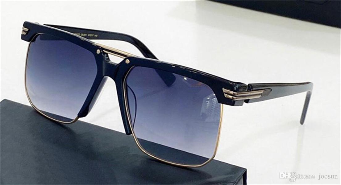 Óculos de sol de design de moda 9072 Quadrado Meia-quadro Simples e generoso Estilo ao ar livre UV 400 Lente Proteção de Óculos de alta qualidade