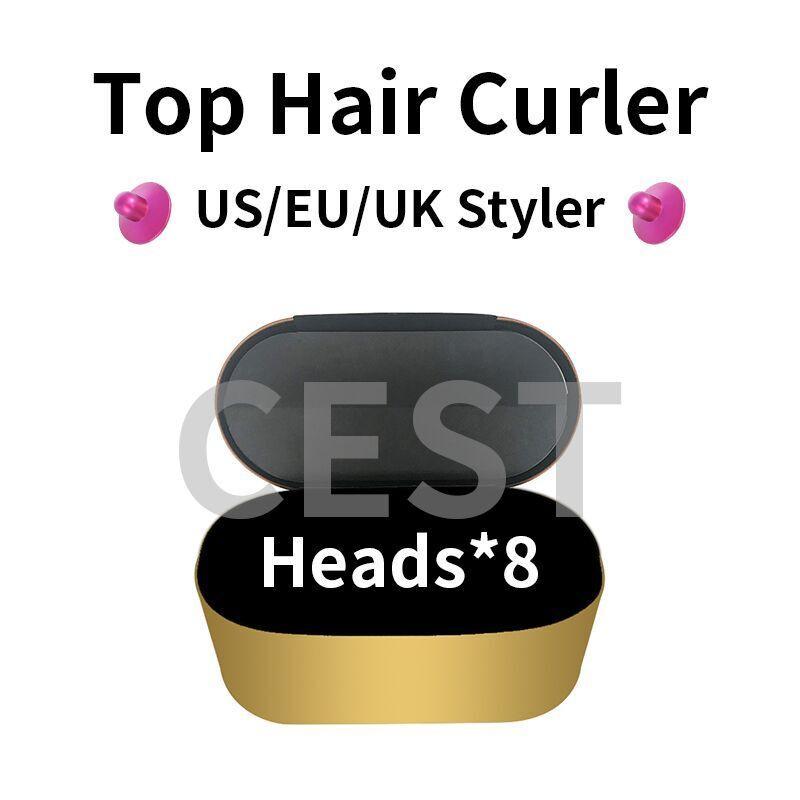 Haarstifter Curler Professionelle Salon Werkzeuge EU / US / UK Version 8Heads Curling-Eisen für normale Haar-Geschenkbox Schnelle Spezifik