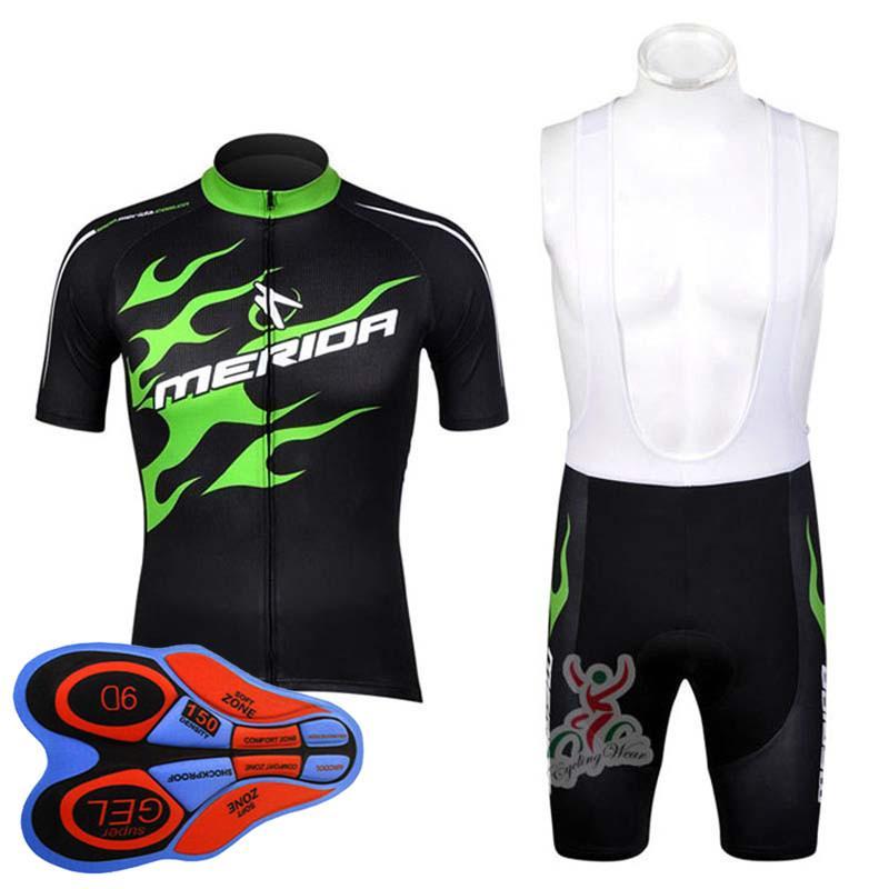 Merida Team Manica Corta Cycling Jersey Set uomo Bike Shirt Bib Shorts Tuta Bicicletta Sport Sport Uniform Summer Racing Abbigliamento abbigliamento sportivo Y090401