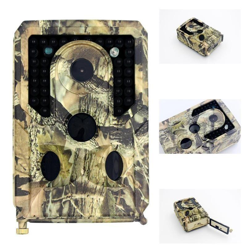 야외 카메라 Vertvie 전망 1080P 트레일 방수 IP54 비디오 PO 야간 투시경 사냥 카메라