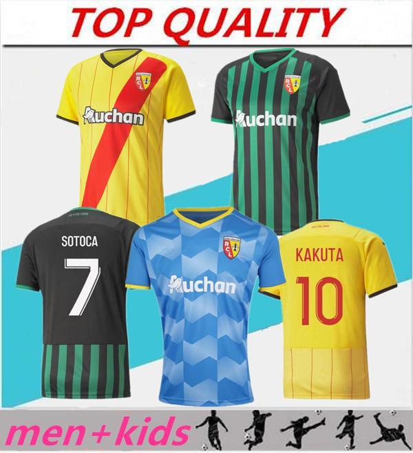 maillot Lens RC soccer jerseys 21 22 KAKUTA GANAGO SOTOCA FOFANA GRADIT FORTES BANZA CAHUZAC DOUCOURE 2021 2022 Lens Football Shirts men kids Kits Equipment home