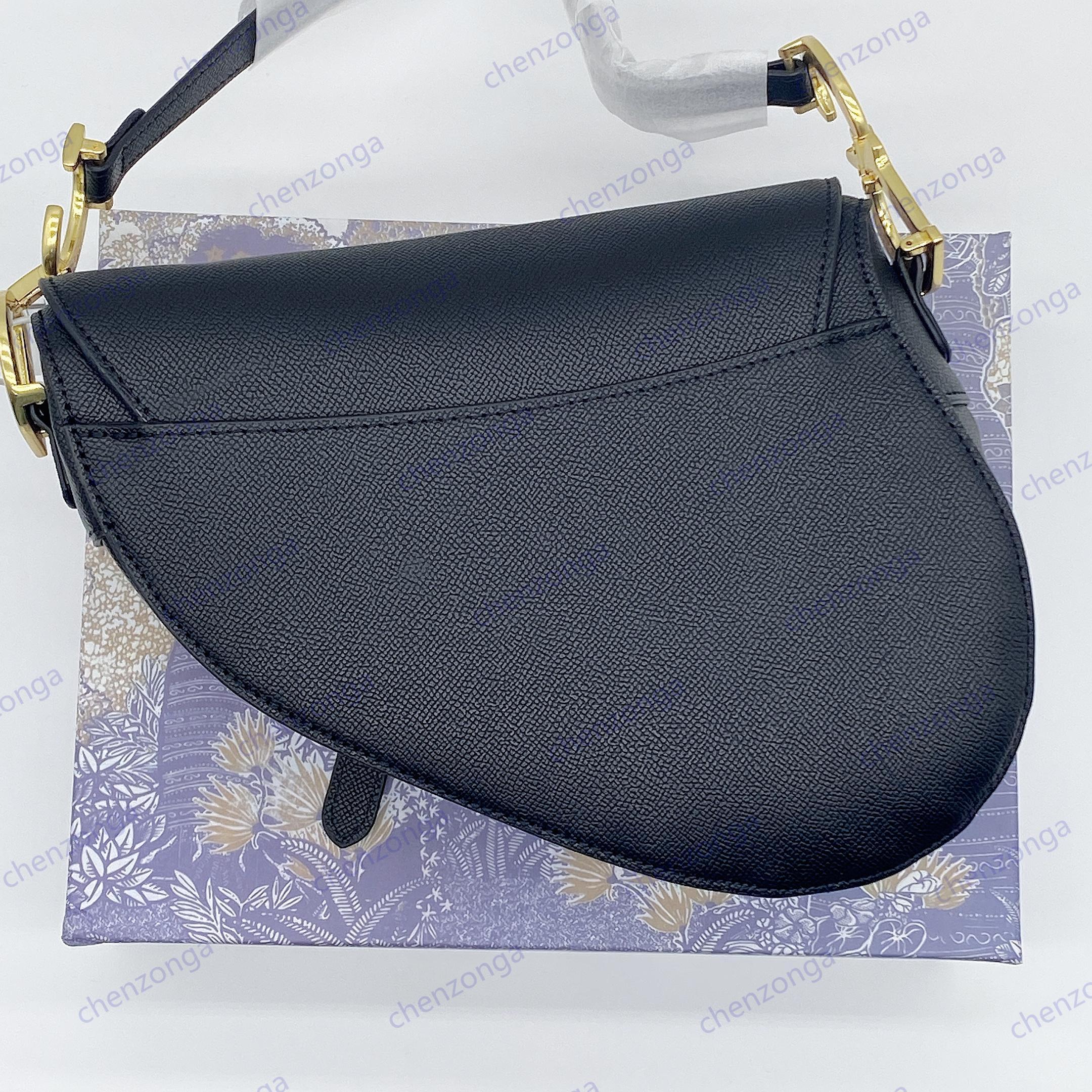 Ladies cowhide saddle bag vintage high quality crossbody handbag celebrity inspiration embroidered canvas shoulder bags D22