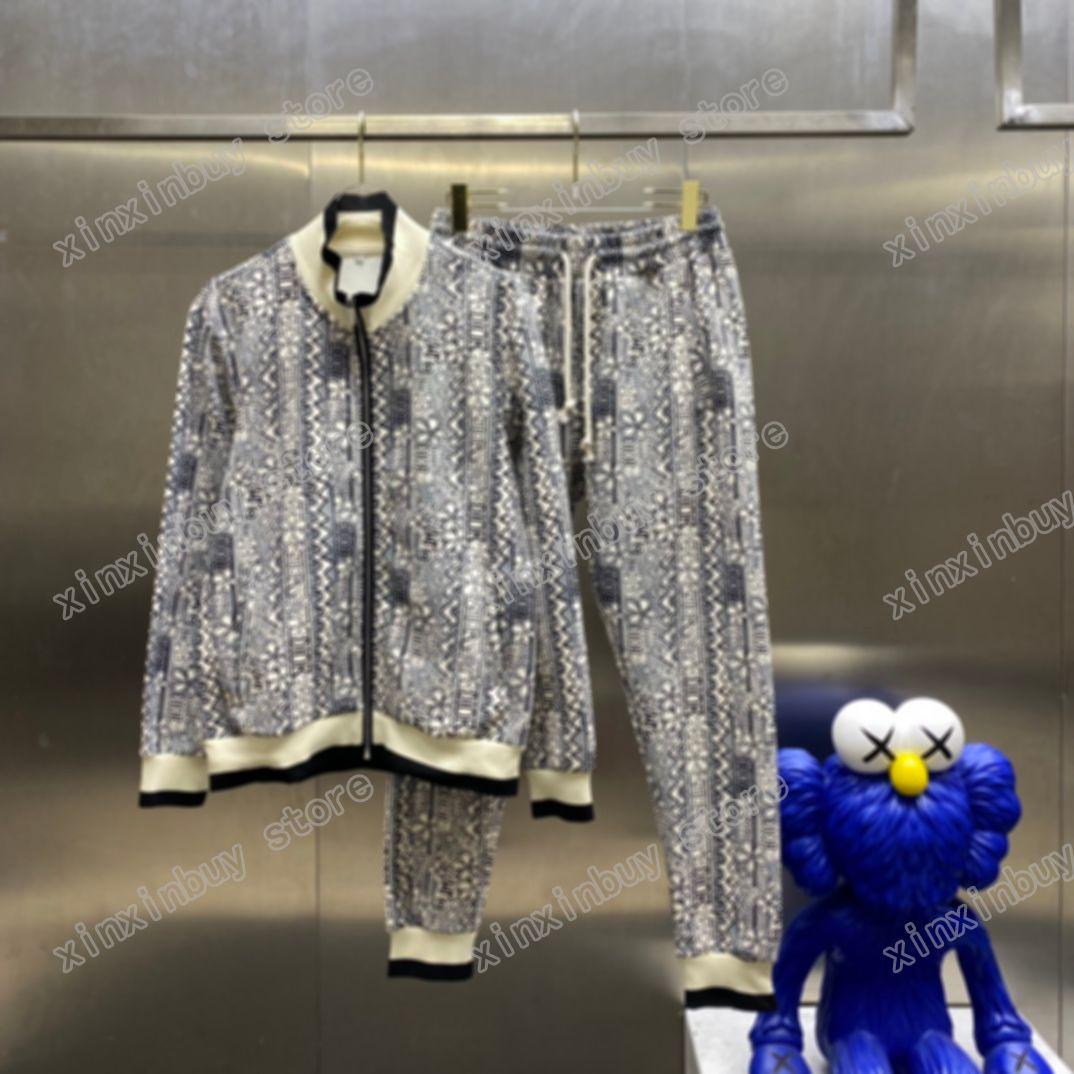 21SS Mens Donne Designer Designer Tute Doppia Jacquard Lettera Streetwear A Vnoccio Bbelbreak Moda Tracksuit Men Designer Zipper Black Bianco Blu Argento Brown Xinxin