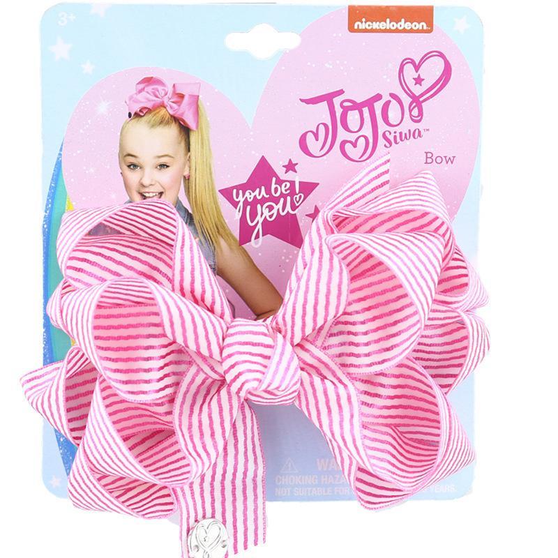 Kids Jojo Grandes laços de cabelo clipe moda bebê meninas bowknot fita de faixa de faixa de faixa de faixa de cabelo três camadas desenhos animados cocar acessórios de cabelo g4eiwfh