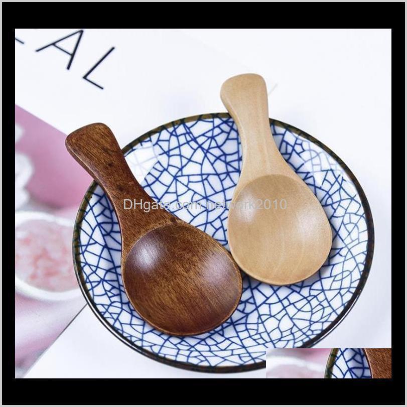 ملاعق ناتوريل خشبية القهوة الشاي السكر الملح سكوب المطبخ أواني مجموعة مصغرة الخشب ملعقة الطبخ أداة C796 ل ovzrt cbkuc