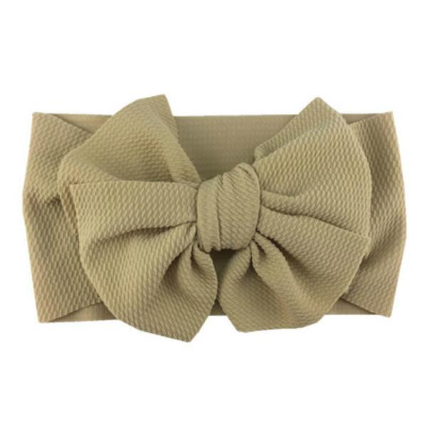 Festa Favor Bebê Meninas Big Bow Headbands Elastic Bowknot Headband Headwear Crianças Headdress ZZE5654