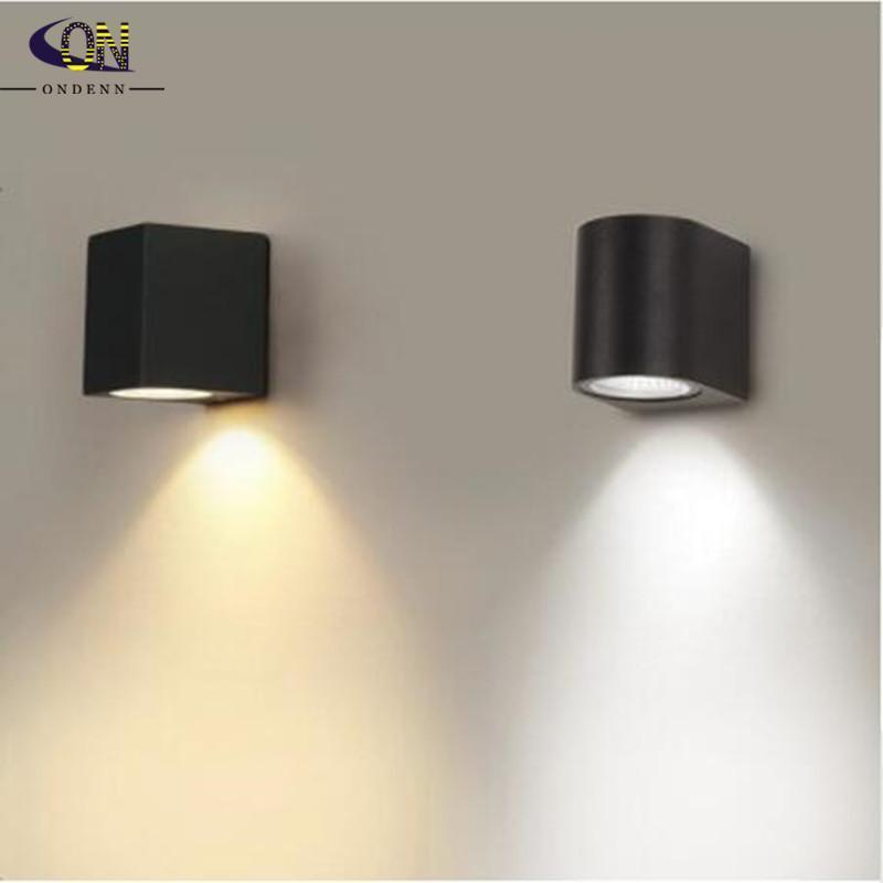 방수 야외 벽 램프 6W LED 소스 아래로 조명 현대 미니멀리스트 실내 엔지니어링 현관 정원 조명 램프
