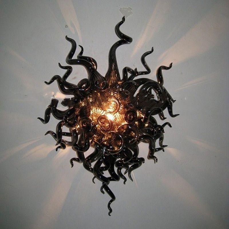 Lâmpada de parede preta artesanal DIY led bulbos sconce 20x28 polegadas iluminação interna para sala de estar quarto
