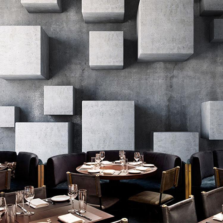 Duvar Kağıtları Modern Minimalist PO Duvar Kağıdı 3D Kübik Kareler Özel Duvar Resimleri İç Tasarım Yatak Odası Kahve Dükkanı Odası Dekor