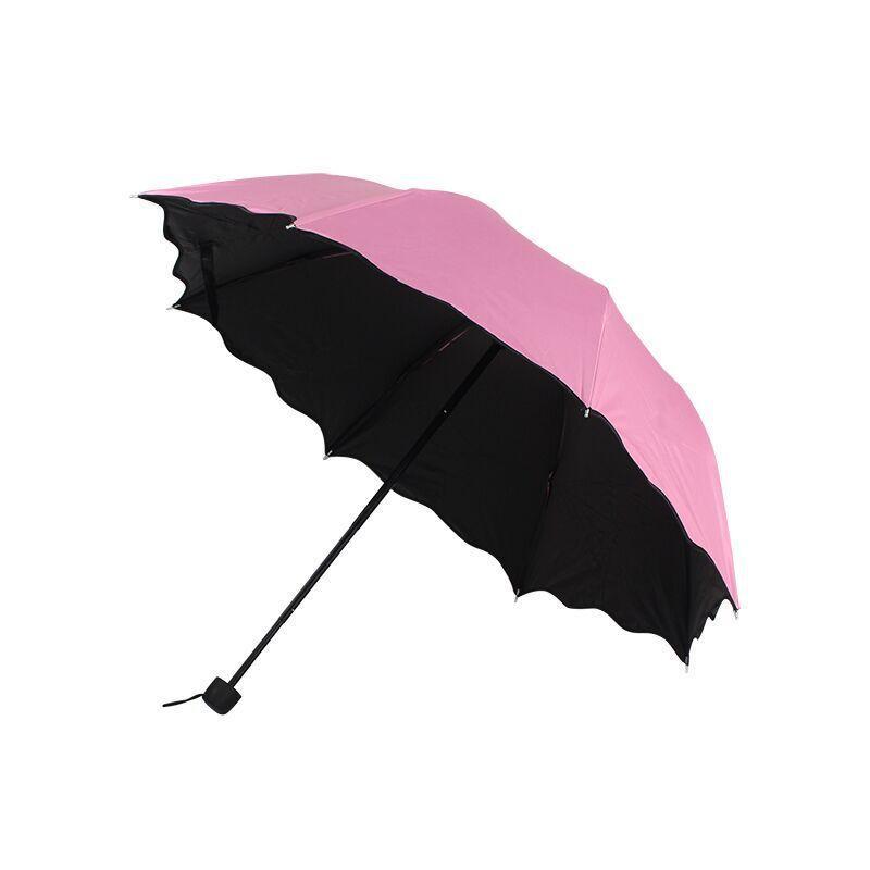 Rüzgar geçirmez ters katlanır şemsiye çiçek açan şemsiye çift amaçlı güneş vinil güneş-şemsiye güneşli ve yağmurlu günlerde