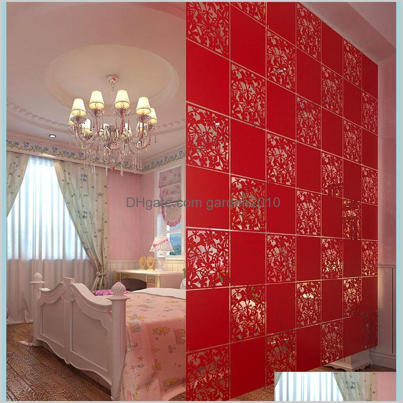 Blinds Home Décor & Garden 20Pcs Room Divider Biombo Partition Wall Dividers Partitions Pvc Stickers Folding Screen Drop Delivery 2021