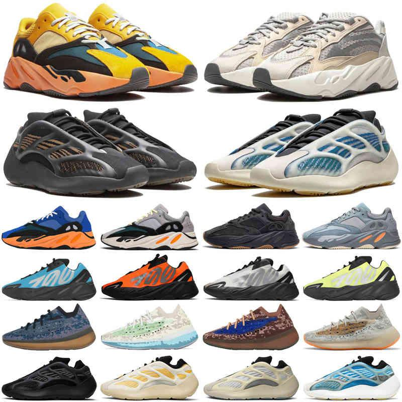 2021 Kanye 700 V3 380 KYANITE Erkekler Kadın Ayakkabı Lmnte Sun Hylte Onyx Kil Kahverengi Statik Leylak Atalet Mens Eğitmenler Spor