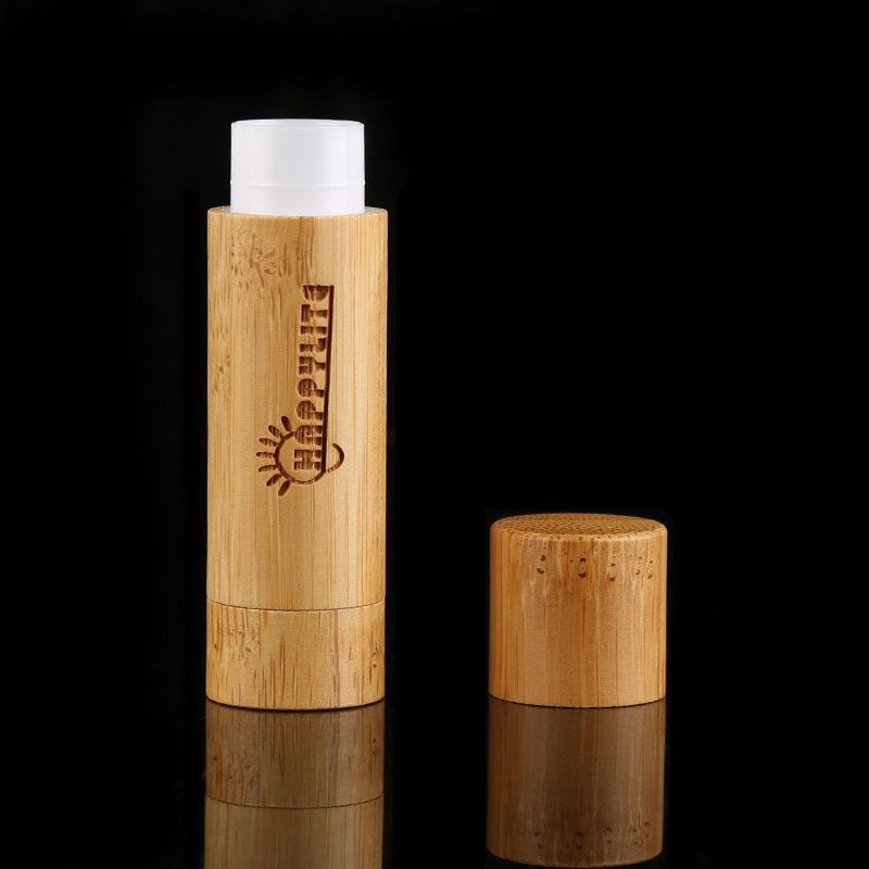5 ml Ruj Tüpü Dudak Balsamı Konteynerler Boş Kozmetik Losyonu Konteyner Tutkal Sopa Temizle Seyahat 5G Bambu