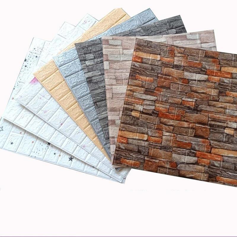 Wallpapers 3d 3d adesivo de parede adesivo DIY auto adesivo impermeável papel de parede decoração de casa tijolo retro