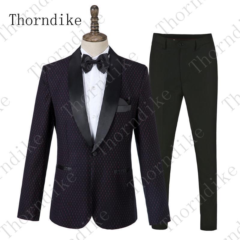 Men's Suits & Blazers Thorndike 2021 Arrival Autumn Formal Wedding Groom Costume Homme Slim Fit British Decent Dinner Prom Suit Black