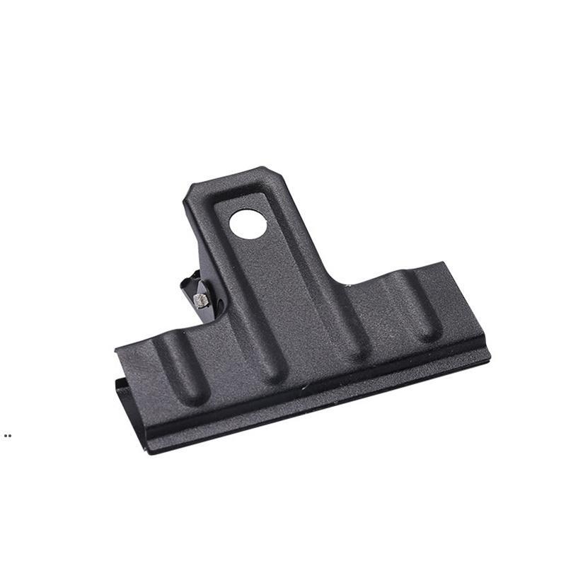 Frosted Black Metal Iron Folder Folder Folder Supply Office Supplies Hogar Fija Pequeña Carpeta Sketch Tablero Clip DWD8400
