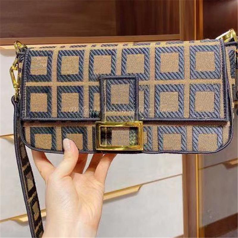 Senhora Ombro Crossbody Baguette Bag Carteiras Tote Bordado Duplo F Letter Bolsas Totes Carteira Mochila Bolsas Mulheres Luxurys Designers Bolsas 2021 bolsa bolsa