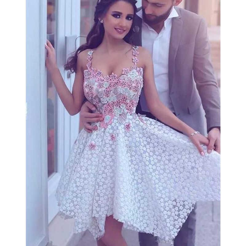 New spagetti straps Short Bridesmaid Dresses 2021 Flower Sweet 15 Dress Little Princess Birthday Formal Gown Homecoming Dress H0916