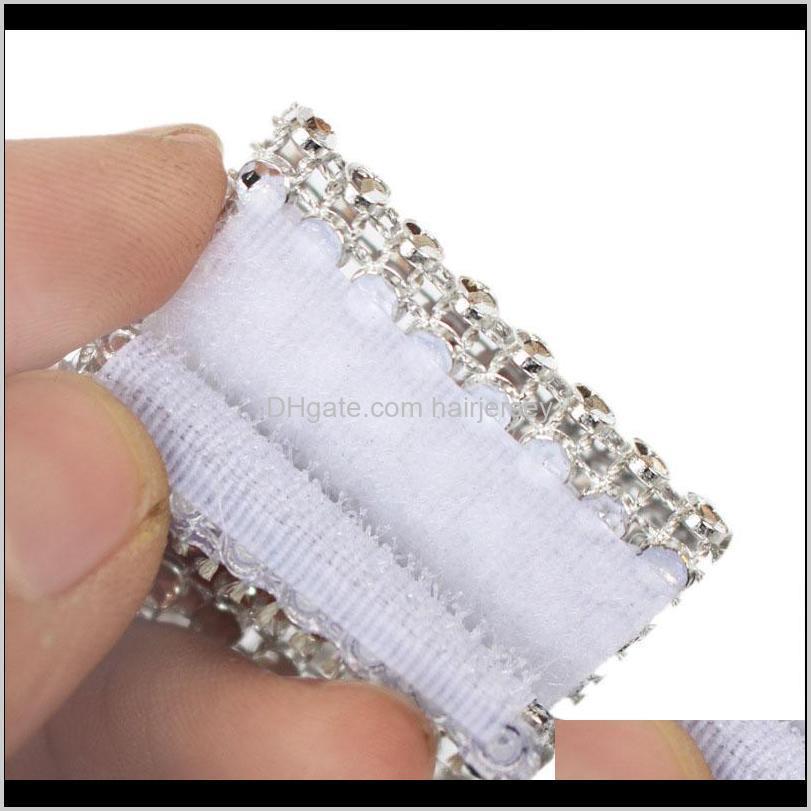 Кольца Высокая 10 шт. Сетка Отделка Bling Diamond Wrap Торт Салфетка Ring Roll Кристаллические Ленты Свадебный Стол Украшение Настольной Сторона Уэй Vdywe P5BMK