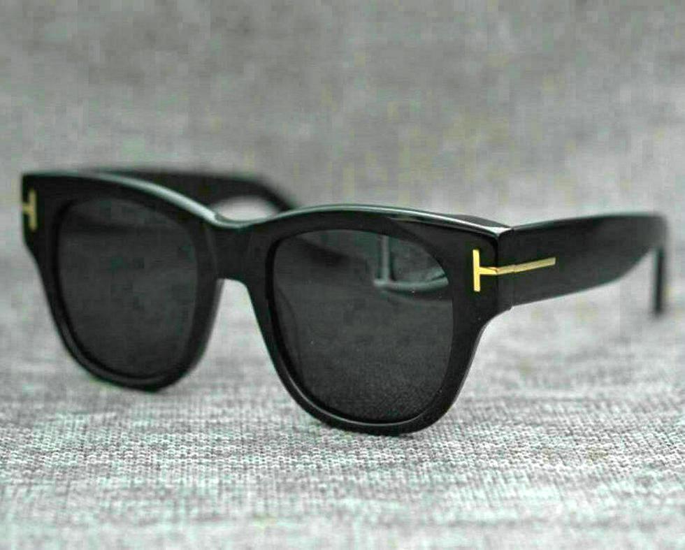 Moda fresca de alta calidad estilo cuadrado de alta calidad Tom gafas de sol hombres / mujeres Vintage Pop Ins diseño de marca Ford Gafas de sol * Caja con cremallera 1 * Paño de fibra 1883